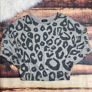 Fab'rik Leopard Dolman Shirt